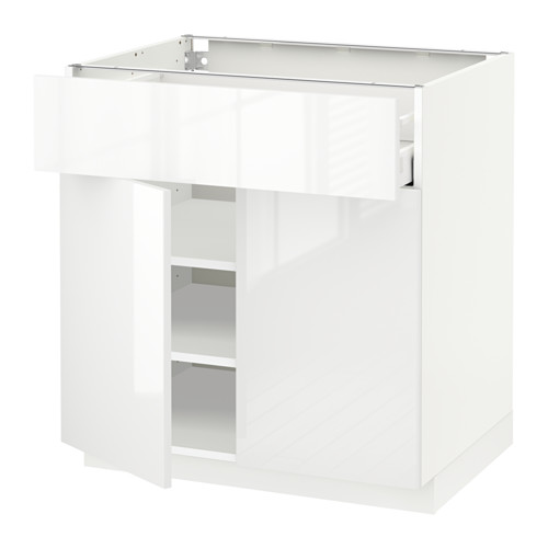 METOD/MAXIMERA - base cabinet with drawer/2 doors, white/Ringhult white | IKEA Hong Kong and Macau - PE518432_S4