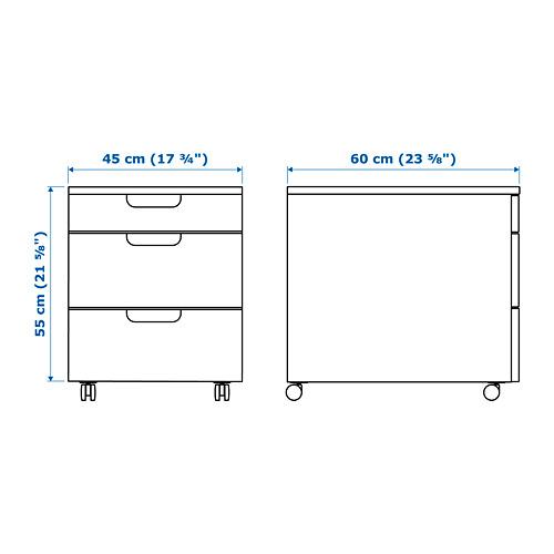 GALANT - 活動抽屜組合, 染黑梣木飾面 | IKEA 香港及澳門 - PE645469_S4