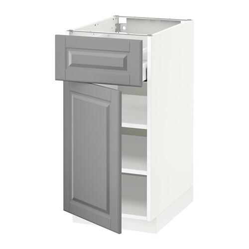 METOD/MAXIMERA - base cabinet with drawer/door, white/Bodbyn grey | IKEA Hong Kong and Macau - PE518519_S4