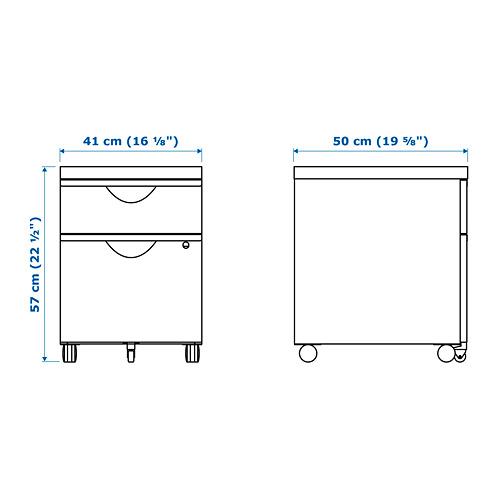 ERIK - 兩層抽屜活動組合, 黑色   IKEA 香港及澳門 - PE645500_S4
