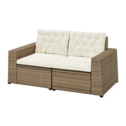 SOLLERÖN - 2-seat modular sofa, outdoor, brown/Kuddarna beige | IKEA Hong Kong and Macau - PE735826_S3