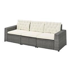 SOLLERÖN - 戶外三座位組合式梳化, 深灰色/Kuddarna 米黃色 | IKEA 香港及澳門 - PE735846_S3