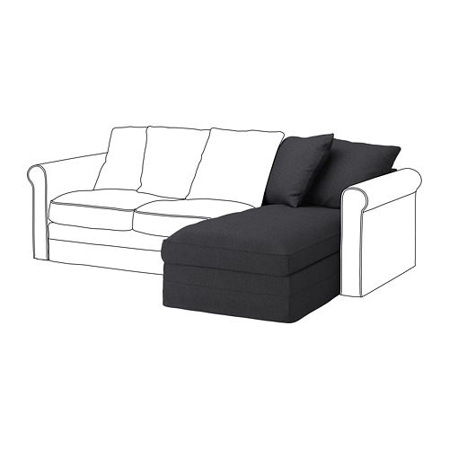GRÖNLID - chaise longue section, Sporda dark grey | IKEA Hong Kong and Macau - PE735867_S4