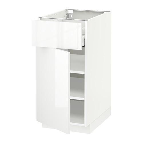 METOD/MAXIMERA - base cabinet with drawer/door, white/Ringhult white | IKEA Hong Kong and Macau - PE518596_S4