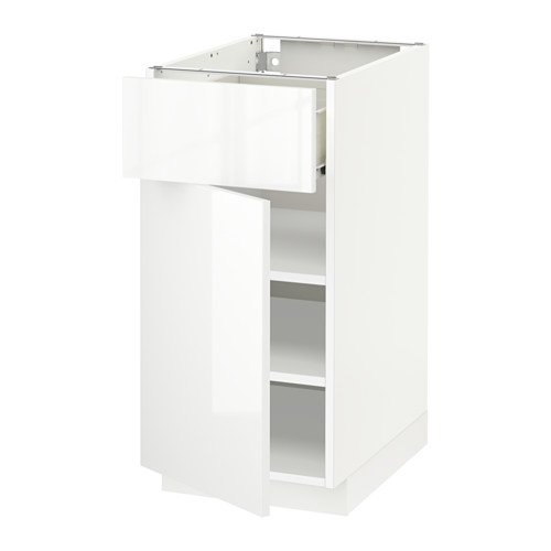 METOD - 地櫃連抽屜/門, 白色 Förvara/Ringhult 白色 | IKEA 香港及澳門 - PE518599_S4