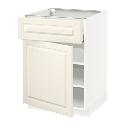 METOD/MAXIMERA - base cabinet with drawer/door, white/Bodbyn off-white | IKEA Hong Kong and Macau - PE518637_S4