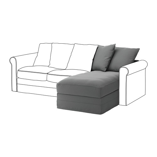 GRÖNLID chaise longue section