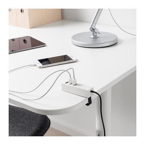 LÖRBY USB充電器連夾