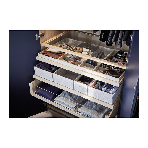 KOMPLEMENT - pull-out tray with insert, white stained oak effect | IKEA Hong Kong and Macau - PH156870_S4