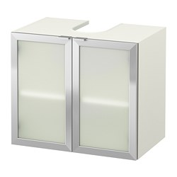 LILLÅNGEN - wash-basin base cabinet w 2 doors, white/aluminium | IKEA Hong Kong and Macau - PE693640_S3