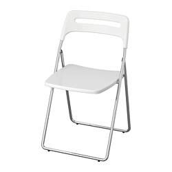 NISSE - folding chair, high-gloss white/chrome-plated | IKEA Hong Kong and Macau - PE736127_S3