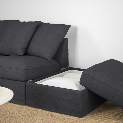 GRÖNLID - corner sofa, 3-seat, with open end/Sporda dark grey | IKEA Hong Kong and Macau - PE669676_S4