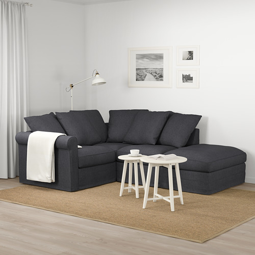 GRÖNLID - corner sofa, 3-seat, with open end/Sporda dark grey | IKEA Hong Kong and Macau - PE674971_S4