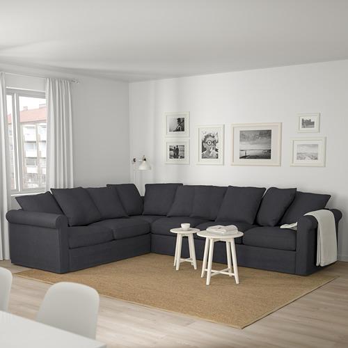 GRÖNLID - 五座位角位梳化, Sporda 深灰色   IKEA 香港及澳門 - PE675026_S4
