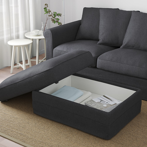 GRÖNLID - footstool with storage, Sporda dark grey | IKEA Hong Kong and Macau - PE675062_S4