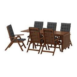 ÄPPLARÖ - 戶外檯連躺椅組合, 染褐色/Hållö 黑色 | IKEA 香港及澳門 - PE583431_S3