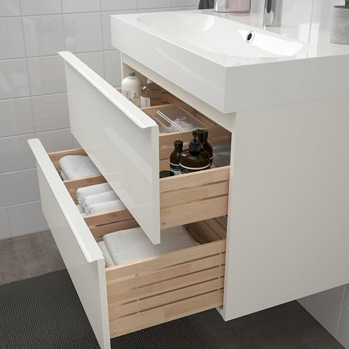 BRÅVIKEN/GODMORGON 雙抽屜洗手盆櫃