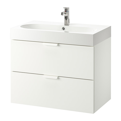 GODMORGON/BRÅVIKEN wash-stand with 2 drawers