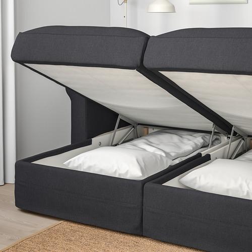 GRÖNLID - 四座位梳化, 連躺椅/Sporda 深灰色 | IKEA 香港及澳門 - PE669718_S4