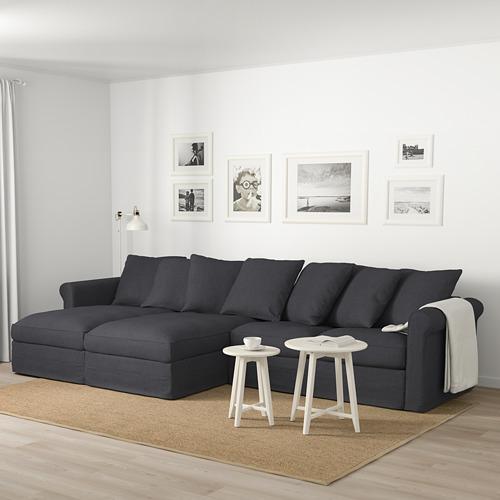 GRÖNLID - 四座位梳化, 連躺椅/Sporda 深灰色 | IKEA 香港及澳門 - PE675054_S4