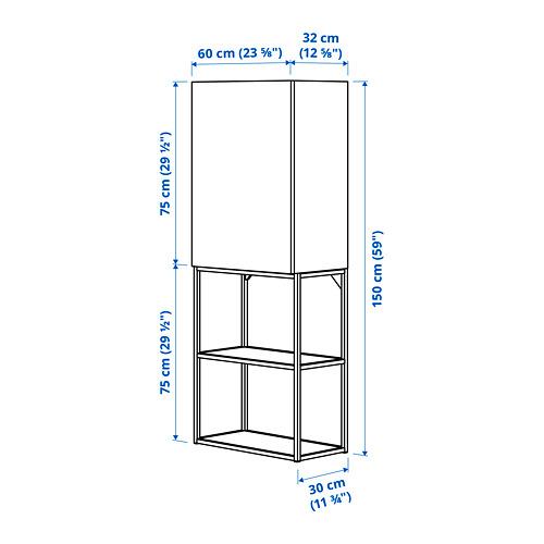 ENHET - 上牆式貯物架組合, anthracite/concrete effect | IKEA 香港及澳門 - PE789773_S4