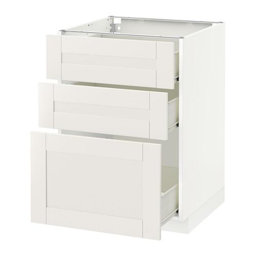 METOD - base cabinet with 3 drawers, white Förvara/Sävedal white | IKEA Hong Kong and Macau - PE518997_S4