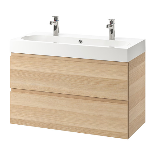 BRÅVIKEN/GODMORGON wash-stand with 2 drawers
