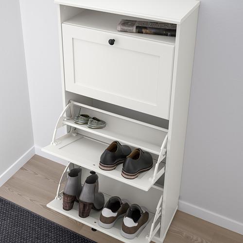 BRUSALI - 三格鞋櫃, 白色   IKEA 香港及澳門 - PE776596_S4