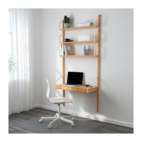 SVALNÄS wall-mounted workspace combination