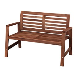 ÄPPLARÖ - bench with backrest, outdoor, brown stained | IKEA Hong Kong and Macau - PE736423_S3