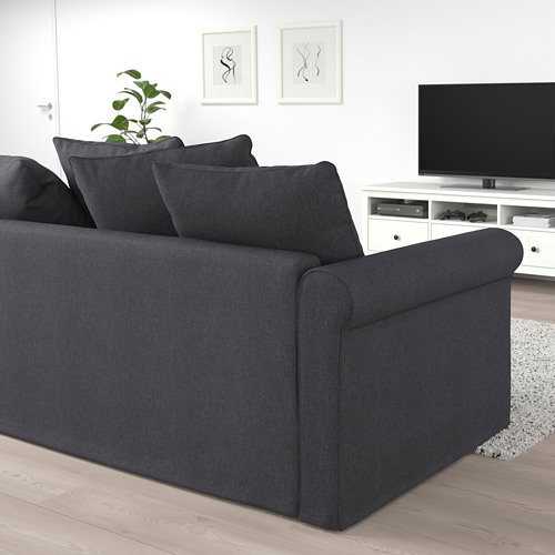 GRÖNLID - corner sofa-bed, 4-seat, with open end/Sporda dark grey | IKEA Hong Kong and Macau - PE690784_S4
