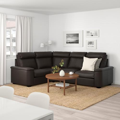 LIDHULT - 四座位角位梳化, Grann/Bomstad 深褐色   IKEA 香港及澳門 - PE689387_S4