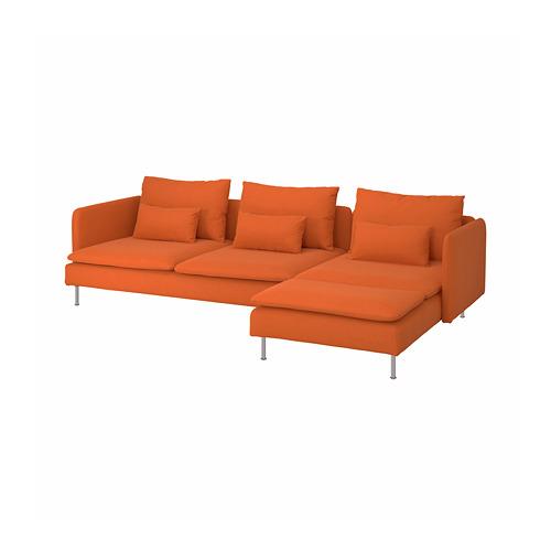 SÖDERHAMN - 4-seat sofa, with chaise longue/Samsta orange | IKEA Hong Kong and Macau - PE790046_S4