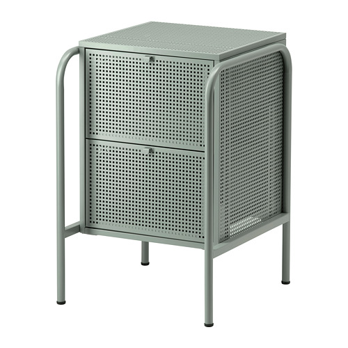 NIKKEBY - chest of 2 drawers, grey-green   IKEA Hong Kong and Macau - PE738505_S4