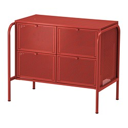 NIKKEBY - chest of 4 drawers, red   IKEA Hong Kong and Macau - PE738504_S3