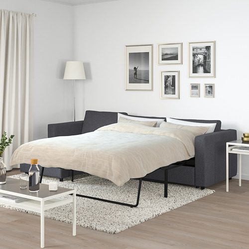 VIMLE - 3-seat sofa-bed with chaise longue, Gunnared medium grey | IKEA Hong Kong and Macau - PE721656_S4