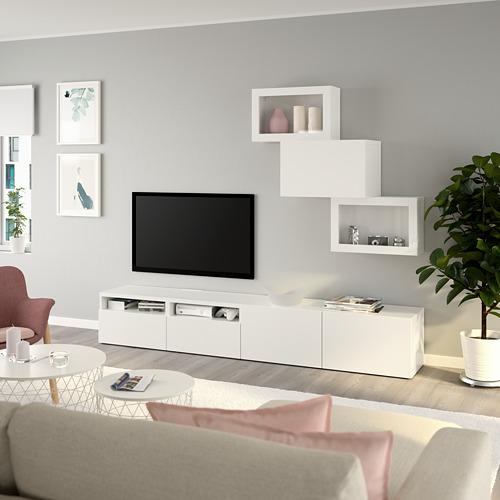 BESTÅ - 電視貯物組合/玻璃門, white/Lappviken white clear glass | IKEA 香港及澳門 - PE736704_S4