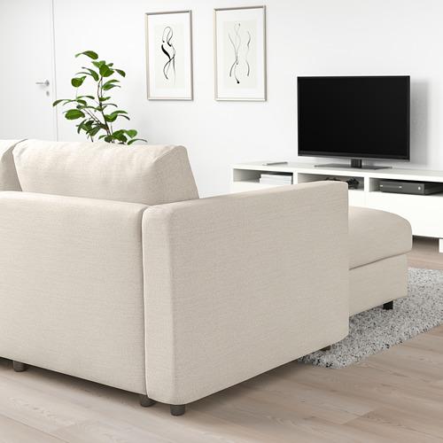 VIMLE - 4-seat sofa with chaise longue, Gunnared beige | IKEA Hong Kong and Macau - PE721744_S4