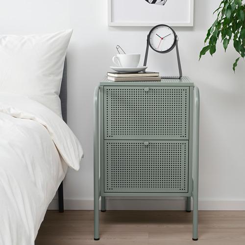 NIKKEBY - chest of 2 drawers, grey-green   IKEA Hong Kong and Macau - PE738500_S4