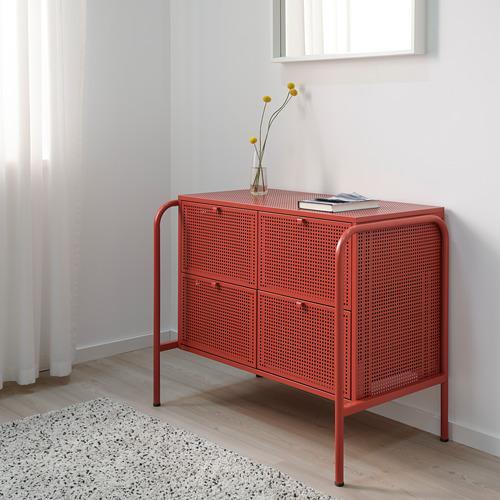NIKKEBY - 四格抽屜櫃, 紅色   IKEA 香港及澳門 - PE738507_S4