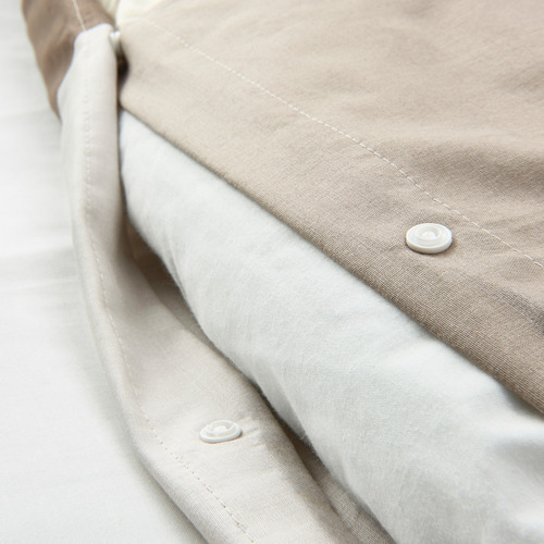 BRUNKRISSLA - quilt cover and 2 pillowcases, brown, 200x200/50x80 cm | IKEA Hong Kong and Macau - PE790236_S4