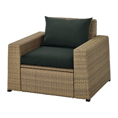 SOLLERÖN - 戶外扶手椅, 褐色/Hållö 黑色 | IKEA 香港及澳門 - PE736954_S4