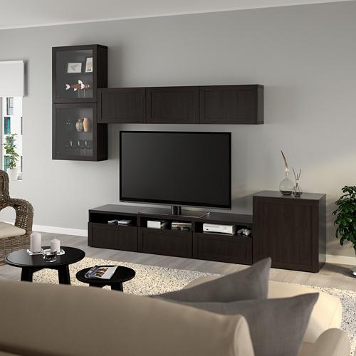 BESTÅ - 電視貯物組合/玻璃門, black-brown/Hanviken black-brown clear glass | IKEA 香港及澳門 - PE736885_S4
