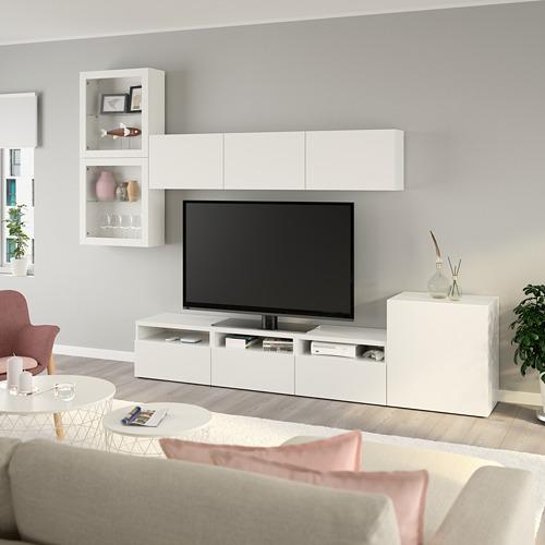 BESTÅ - 電視貯物組合/玻璃門, white/Lappviken white clear glass | IKEA 香港及澳門 - PE736879_S4