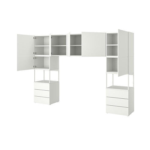 PLATSA wardrobe with 7 doors+6 drawers