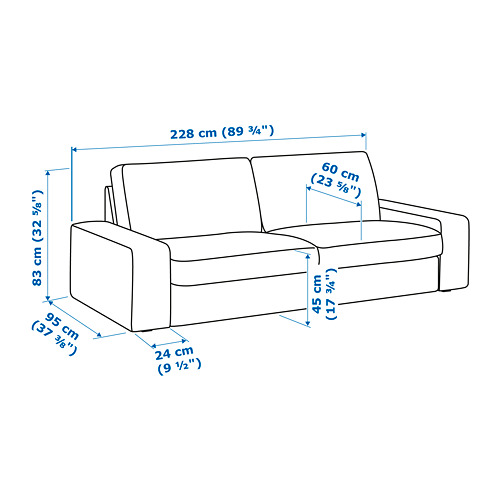 KIVIK - three-seat sofa, Orrsta light grey | IKEA Hong Kong and Macau - PE776725_S4