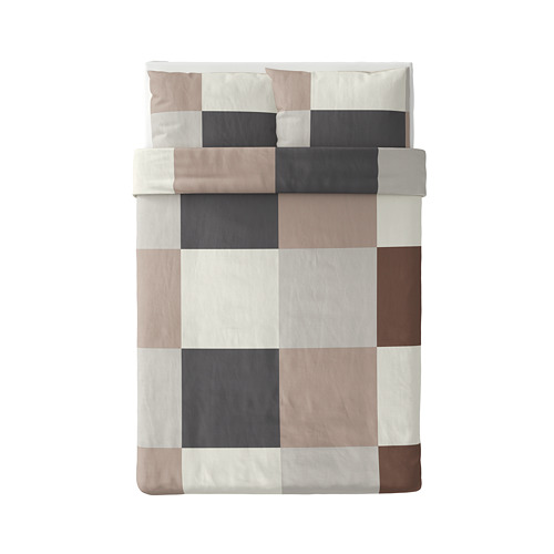 BRUNKRISSLA - quilt cover and 2 pillowcases, brown, 200x200/50x80 cm | IKEA Hong Kong and Macau - PE790229_S4