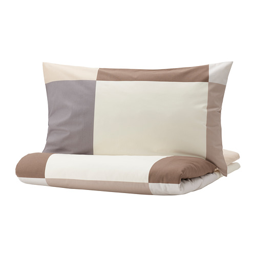 BRUNKRISSLA - quilt cover and 2 pillowcases, brown, 200x200/50x80 cm | IKEA Hong Kong and Macau - PE790239_S4