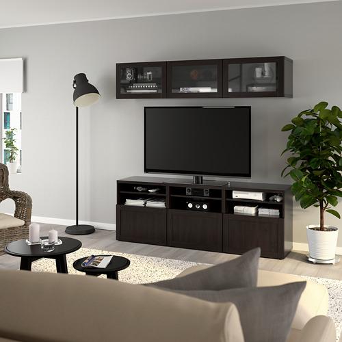 BESTÅ - 電視貯物組合/玻璃門, black-brown/Hanviken black-brown clear glass | IKEA 香港及澳門 - PE736923_S4