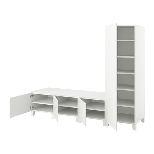 PLATSA - 四門衣櫃, 白色/Fonnes 白色   IKEA 香港及澳門 - PE835807_S4